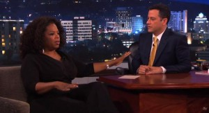 Oprah complained about being racially discriminated against while shopping in Switzerland. But then she suffered blowback as the details seemed to fall apart. So she erased the bad press with an Oprah Random Car Giveaway Redux on Jimmy Kimmel. This time she only gave away 1 car, not 276. There's a double-dip recession on!