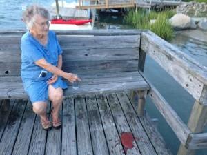 My grandmother drank too much wine!