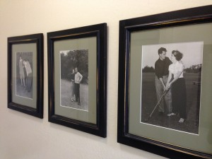 This series of photos was in the bathroom. I was intrigued by Spyglass' emphasis on inclusiveness and co-ed membership. That's not a golf tradition, is it? (Basing my education off Augusta National's just-now-lifted ban on female members.)