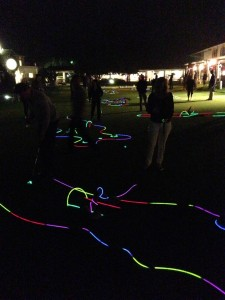 Midnight rave-lit mini golf