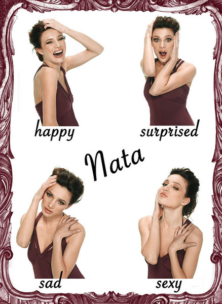 This was Natasha, a.k.a. Nata. Her acting was just as evocative in motion as it is on this sheet. Move over, Jennifer Lawrence.