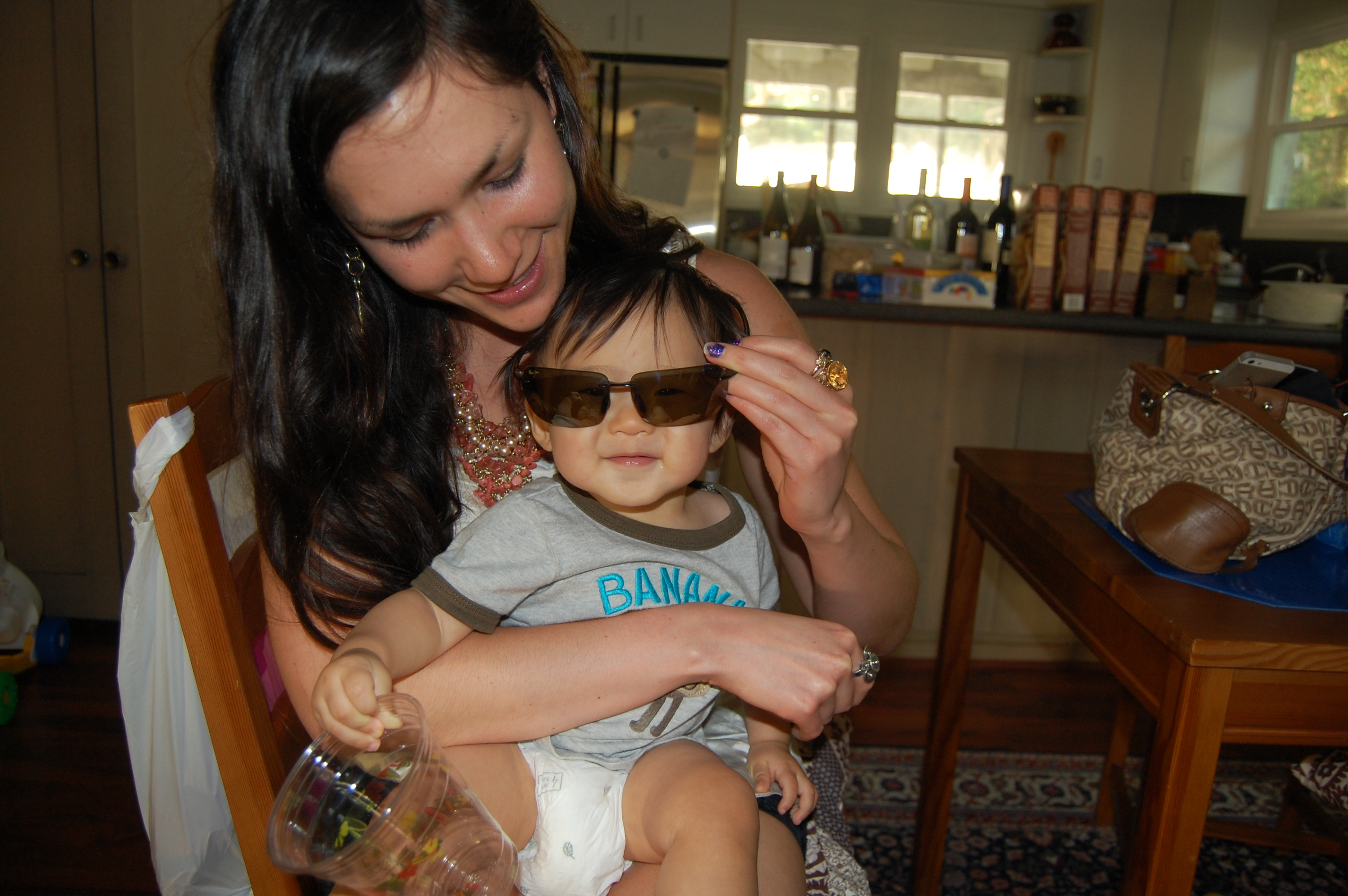 2012: He needs sunglasses to shield his eyes from our bright future as pals!