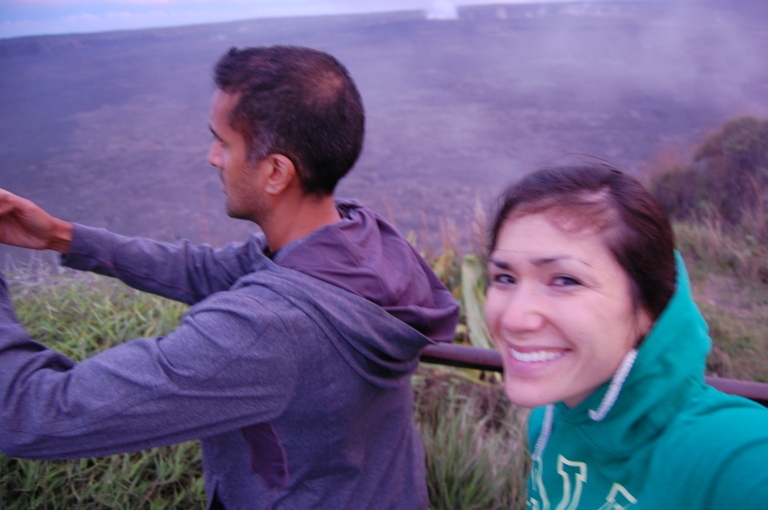 I allowed this dusk excursion to Kilauea's steam vents. The heat from one of the world's most active volcanoes is fine, just as long as we avoid evil soleil.