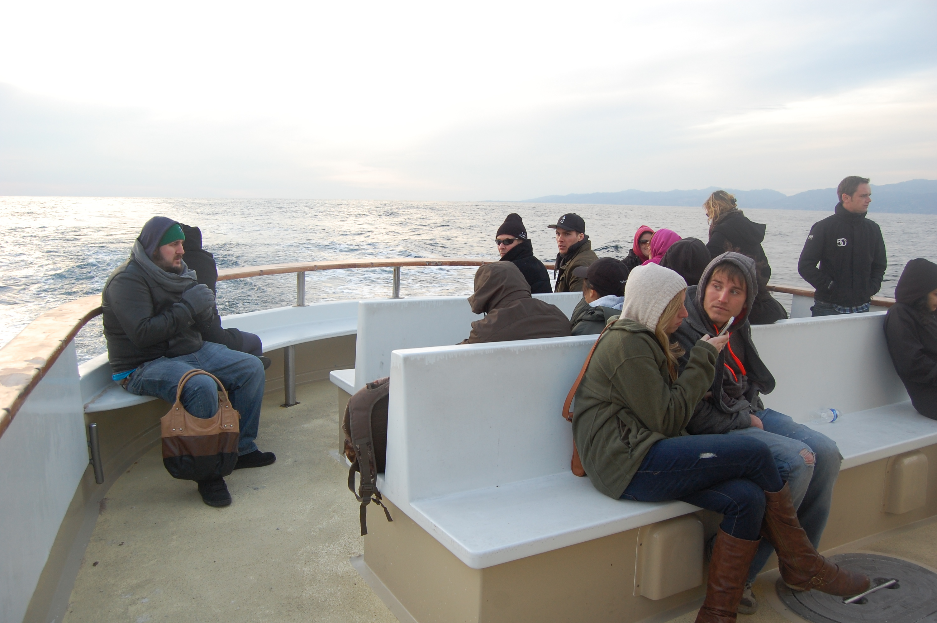 Like a forlorn sailor's wife abandoning her use of the widow's walk, these passengers gave up even looking at the sea.