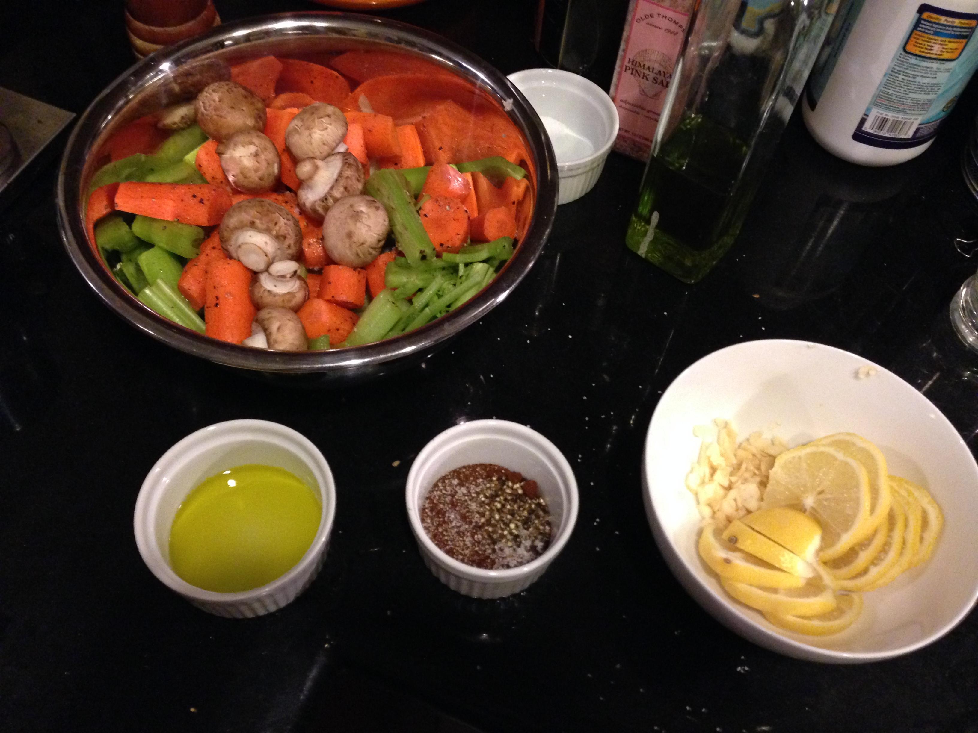 Rubs and veggies