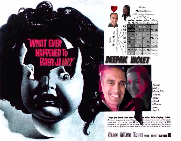 What Ever Happened to Baby Jain?™ I'm not sure, but I did do a little back-of-the-envelope Punnett square up top. Spoiler alert: she (or he) will not have Bette Davis eyes.