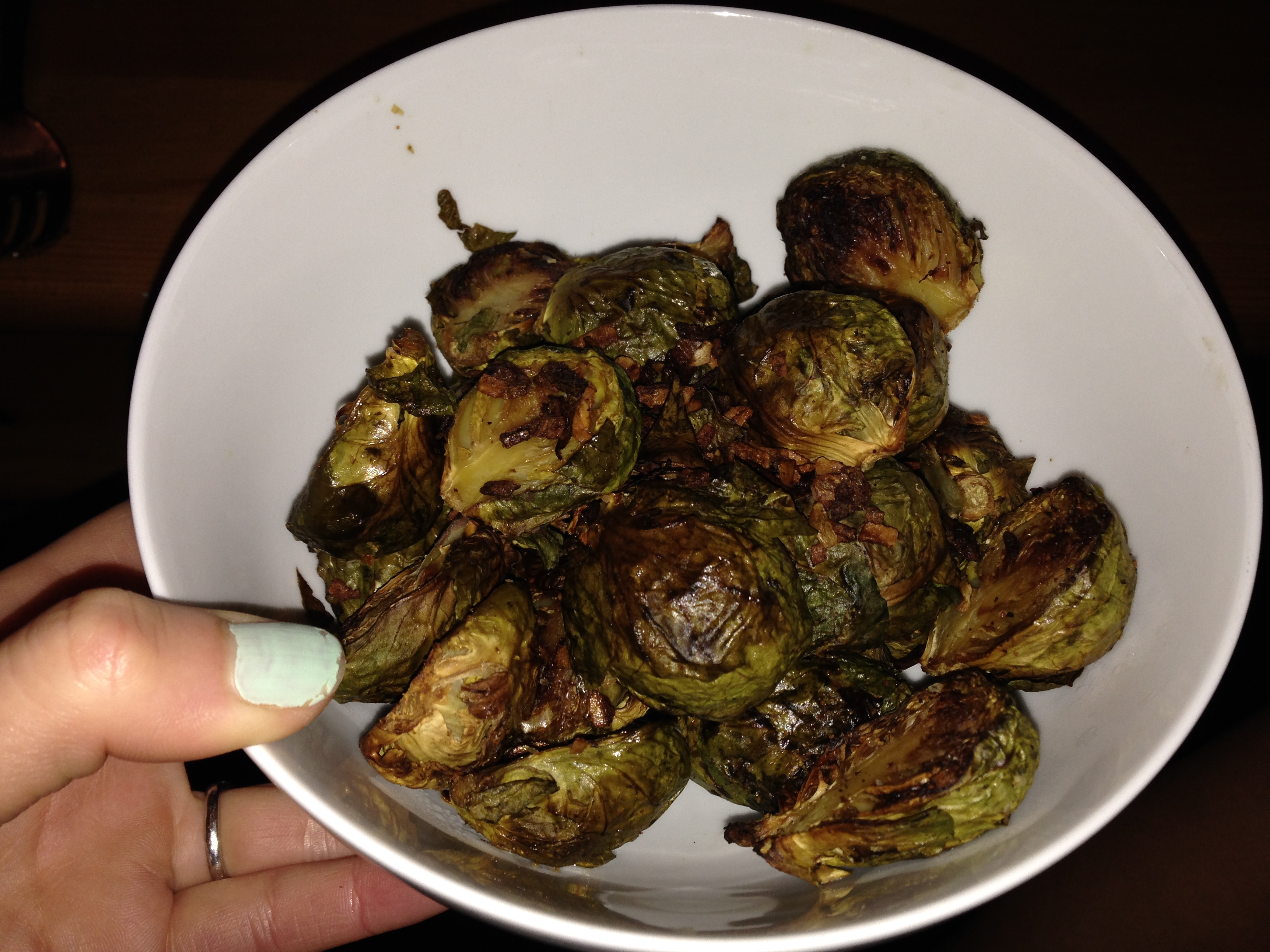 Another recent favorite: overcooked Brussels sprouts. Honeymoon trip to België?