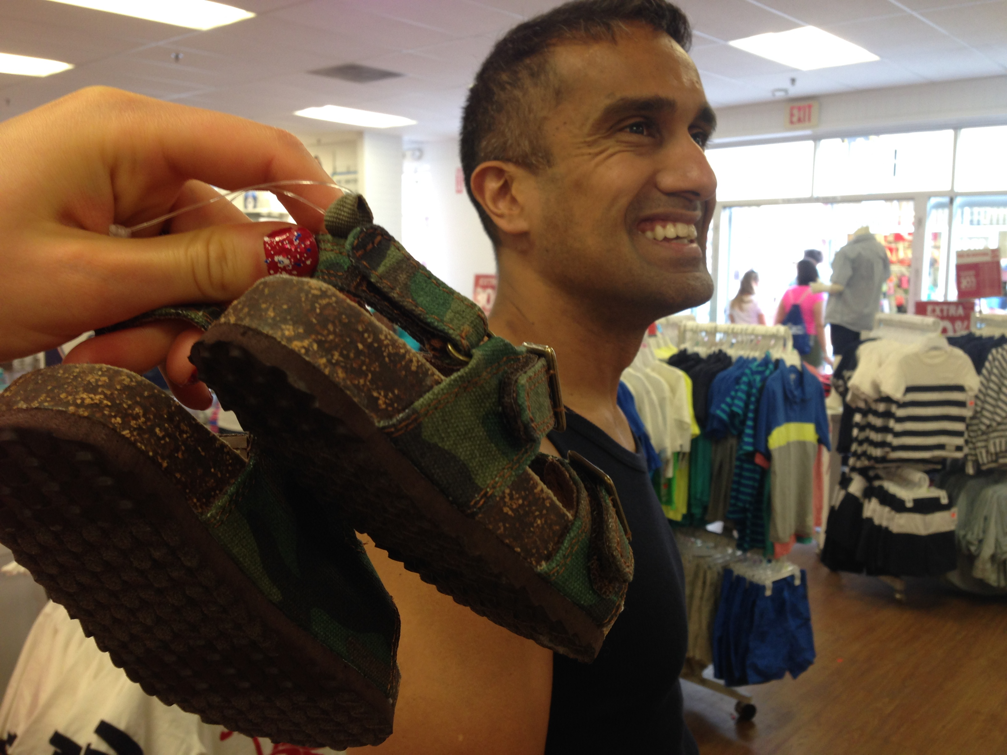 ... But we shunned them for other attractions. (Here, Deepak hears the pitter patter of bargain-clad feet at the Carter's store in the outlet mall)