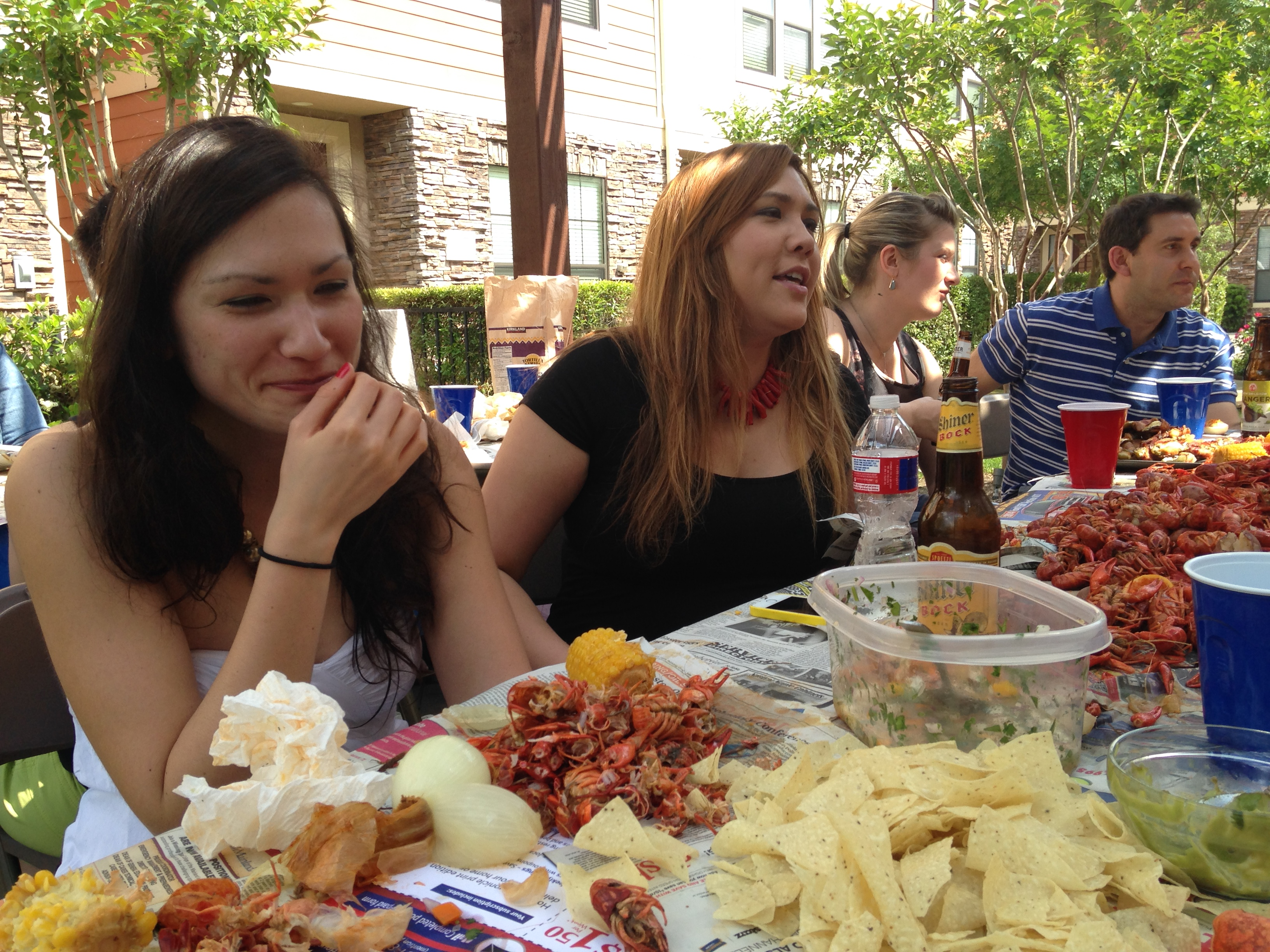 More from that Texas crawfish boil (because it's more dynamic than a shot of me writing. Also, there are no shots of me writing. Hop to!)