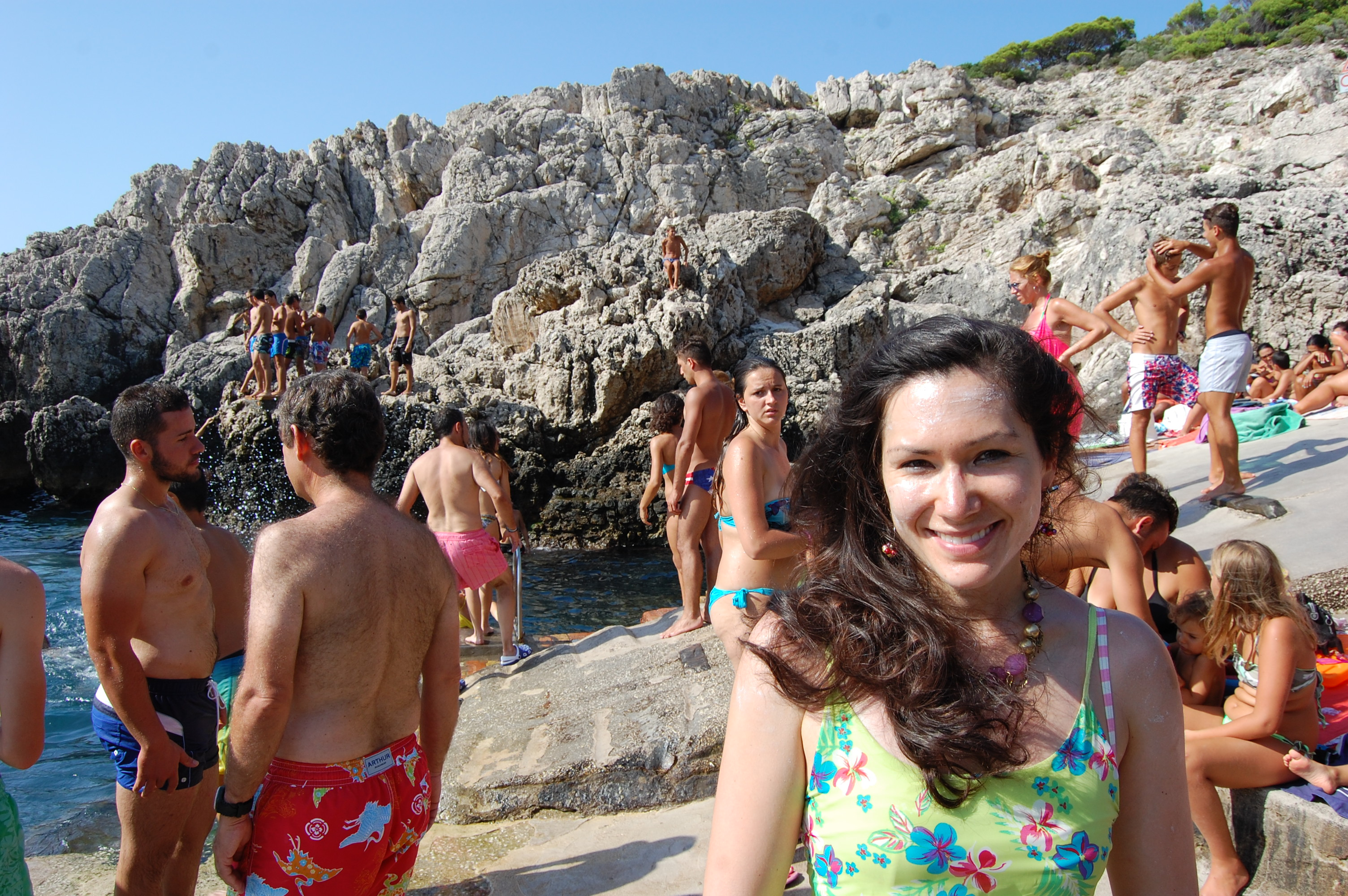 Real-life salty look (courtesy Tyrrhenian sea/buckets of sweat from a brisk tromp up to Tiberius' villa)