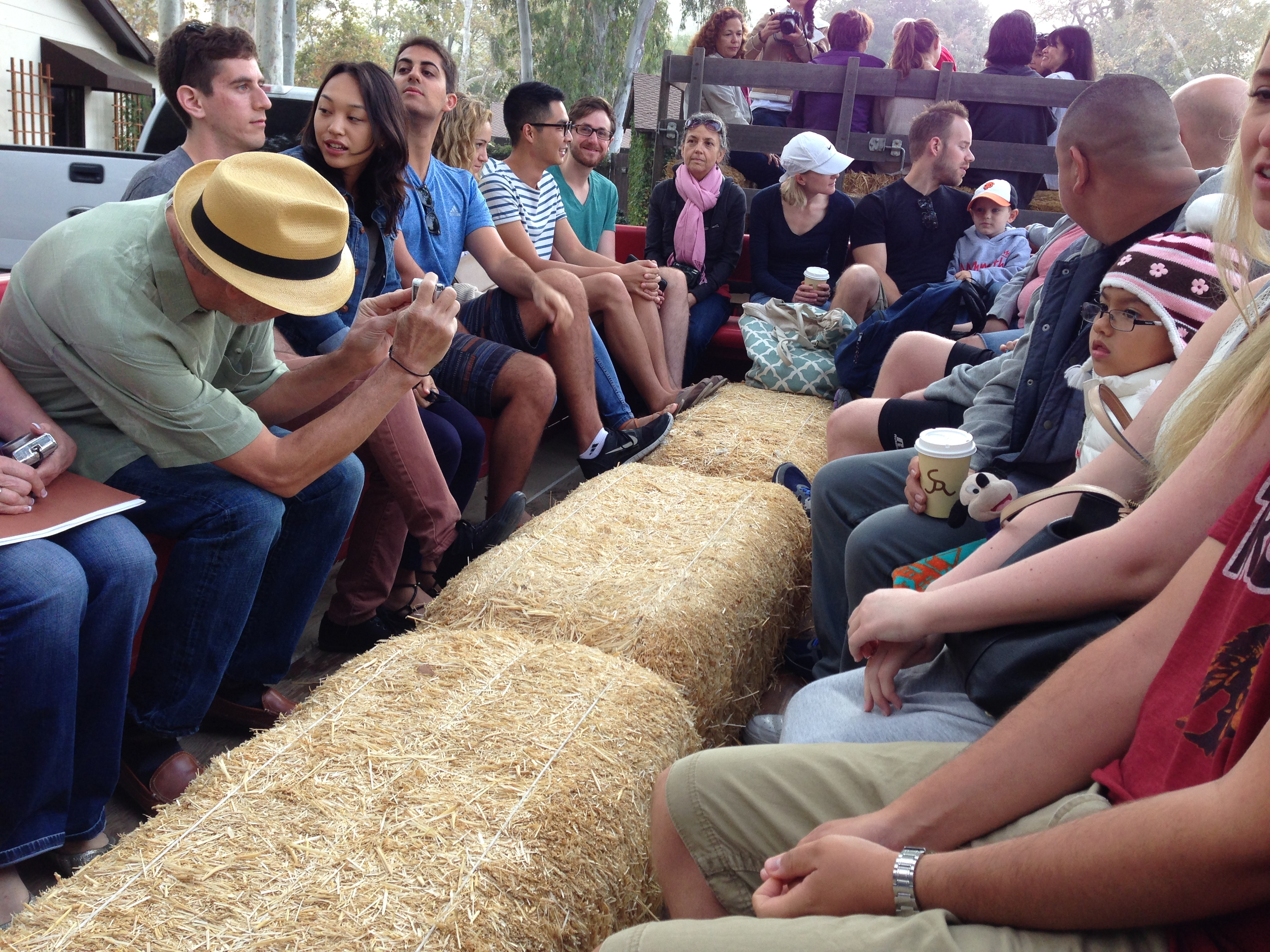 People avoided the hay bale seating in the transport wagon for as long as possible. Who knows what kinds of wood insect, fecal particulate and poor lumbar support you were signing up for?