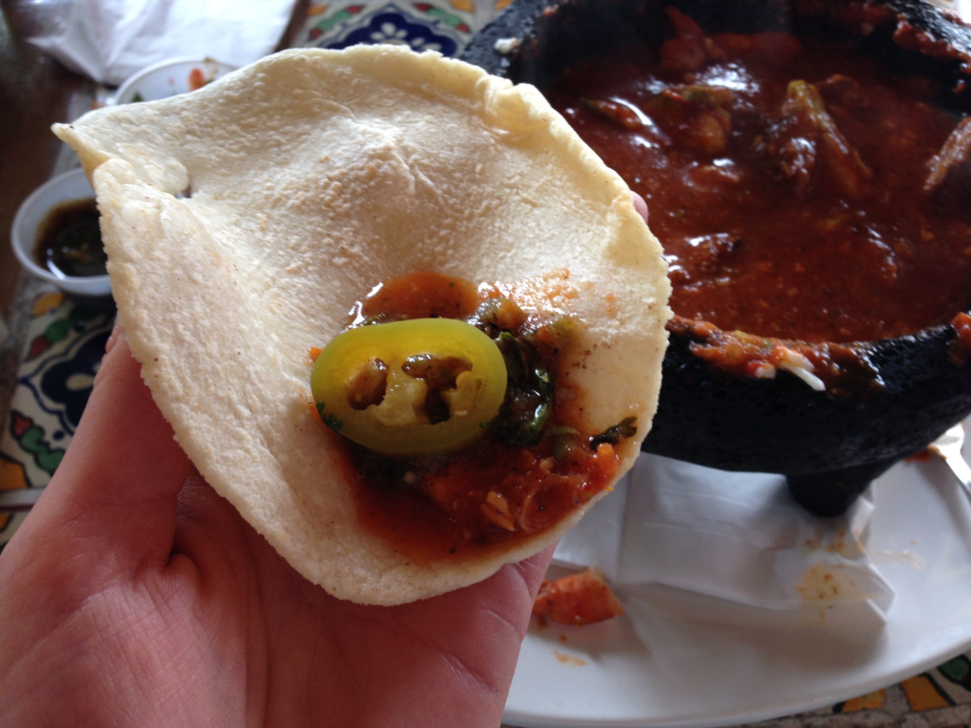And with bottomless fresh tortillas (which also helped cool down the habañero burn)