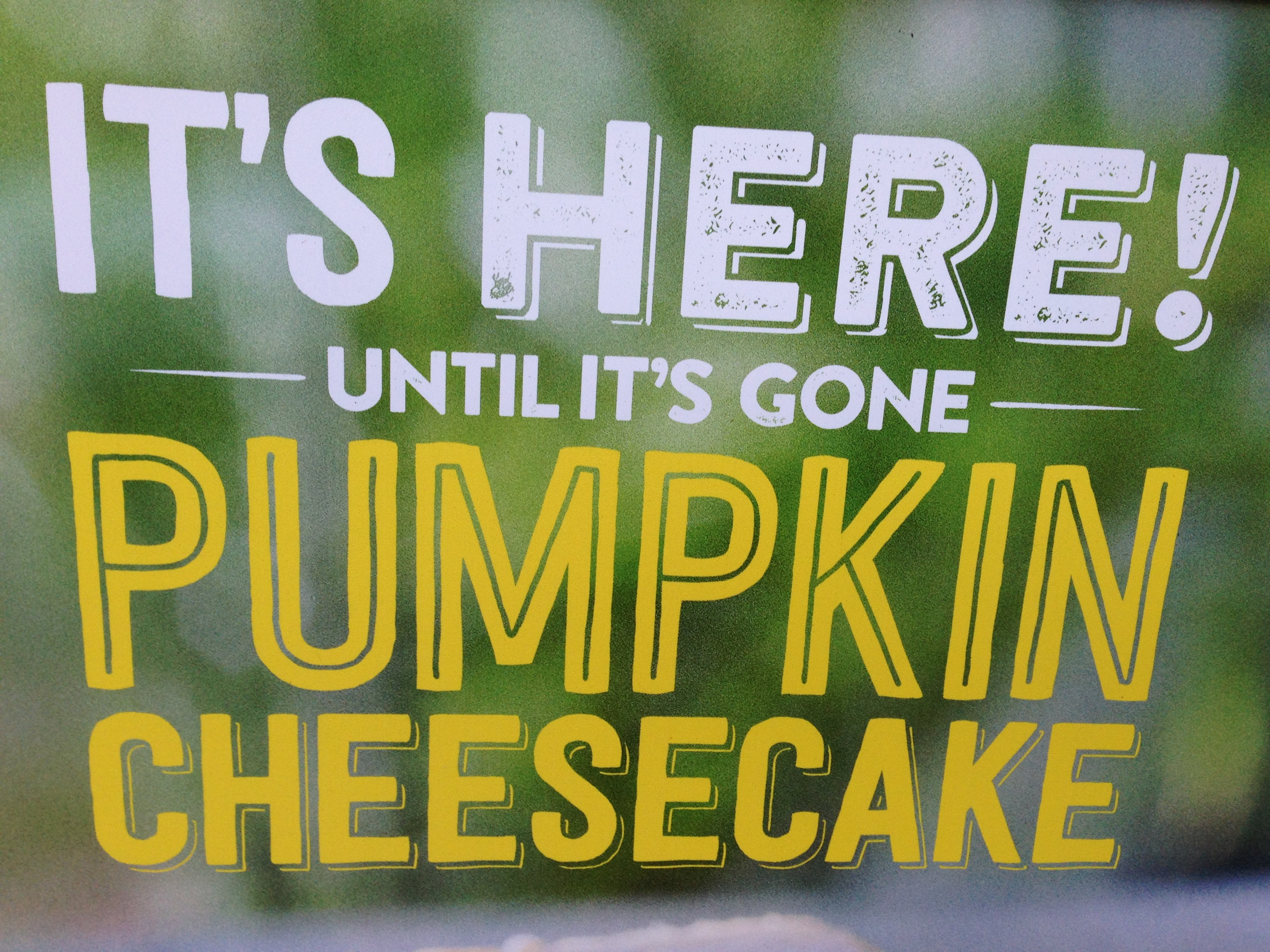 This sign was outside California Pizza Kitchen. My, what a trenchant analysis of the season.