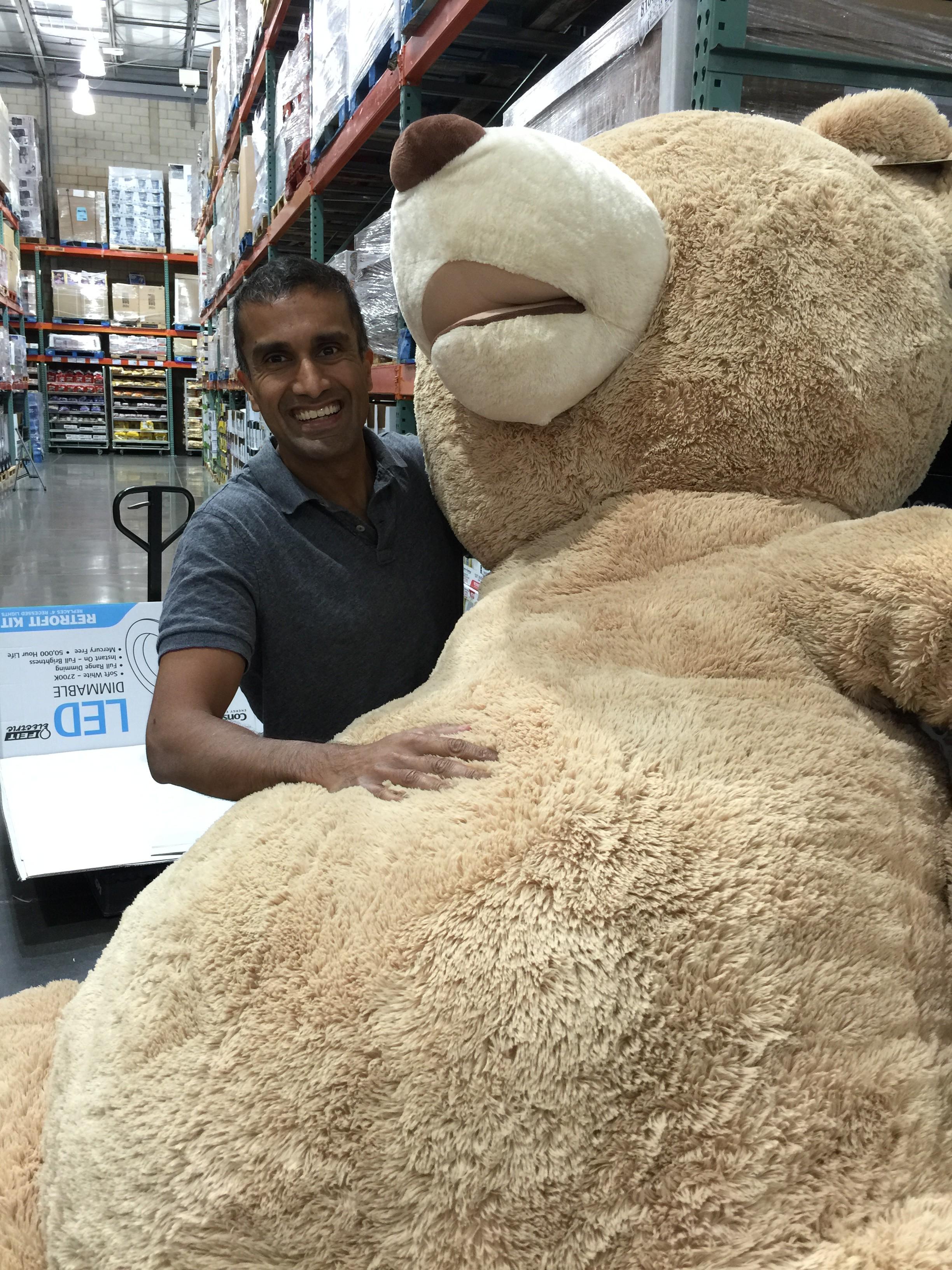 For my birthday, Deepak got me this enormous plush!